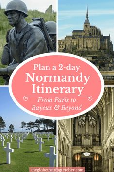 planning your day Plan your Normandy itinerary from Paris to Bayeux. Use this guide to plan train travel, places to visit in Normandy, D-Day Tours, hotels & more! Europe Travel Tips, European Travel, Paris Travel, France Travel, Corsica, Normandy France, Provence France, Normandy Tours, Paris France