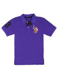 Boy's Multi-Color Big Logo Polo Shirt