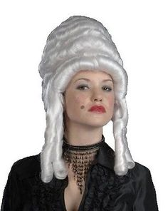 NEW Renaissance Colonial Marie Antoinette DELUXE WHITE VICTORIAN QUEEN WIG