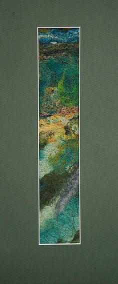 Landscape Nuno and needle felt picture by Su @ Dolyfelin Designs, via Flickr.