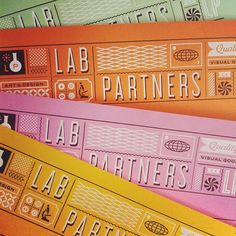 Lab Partners - business cards (white foil!)