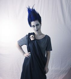 Disney's Hades costume for Halloween! A super easy DIY using a black bed sheet and a T-shirt. No sewing required.