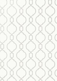 Nisido Bead #wallpaper in #white from the Geometric Resource 2 collection. #Thibaut