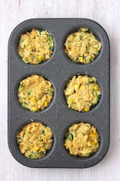 Tender, light, and delicious, these cornbread zucchini muffins taste great plain or topped with butter and honey. The small batch recipe makes just 6 muffins, perfect for baking in your toaster oven! Vegetarian Zucchini Recipes, Zucchini Muffin Recipes, Zucchini Muffins, Toaster Oven Cooking, Baking Muffins, Cornbread, Food To Make, Squash, Ethnic Recipes