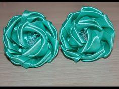 Необычные цветочки из атласной ленты дополнят образ вашей маленькой модницы Моя электронная почта chalkvatatjana@gmail.com Мой блог http://vserukamy.blogspot...