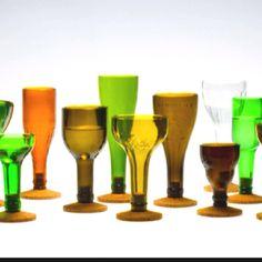 1000 images about diy wine bottles on pinterest diy for Make glasses out of bottles