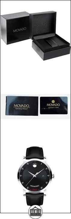 Movado Rojo etiqueta 060684542mm Automático Stainless Steel Case Black Novilla Mineral Reloj para hombre  ✿ Relojes para hombre - (Lujo) ✿ ▬► Ver oferta: http://comprar.io/goto/B00UXF325M