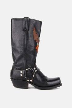 Harley Davidson Harness Leather Riding Boots