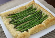 Asparagus and Gruyere Tart. Flour, for work surface Flour, for work surface 2 cups Gruyere cheese, shredded 1 ½ pounds medium or thick asparagus 1 tbsp. BBF Coconut Oil, melted Salt and pepper