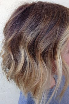 Seamless Hair color melt. Sombre balayage hair painting Kpstyling