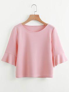 Camiseta fruncido de doblez