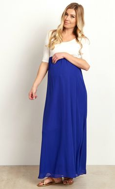 23cbfd315ff A night out calls for the most gorgeous maternity maxi dress in your  closet. This