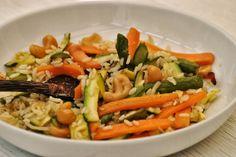 Sorelle in pentola: Riso integrale con verdure croccanti e anacardi: n...