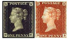 The Penny Black and the Penny Red. Englands first stamps. The Penny Black. The World's first postage stamp went on sale May 1, 1840