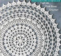 Toalhinha de Croche Redonda - PRose Crochet                                                                                                                                                     Más