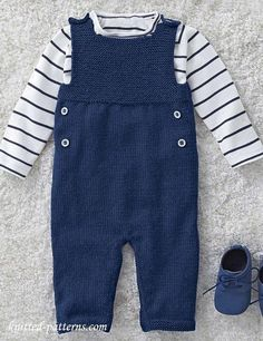 Clothing, Shoes & Accessories Outfits & Sets Next Baby Boys Knitted Dungarees Outfit 3-6