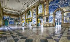 Jorge Colaço | Porto | Estação Ferroviária de / Railway Station of São Bento | 1915 #Azulejo #Porto #JorgeColaço