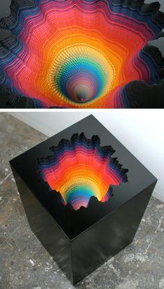 Jen Stark: hand cut paper sculptures