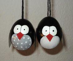 Osterei Pinguin bei dawanda.de
