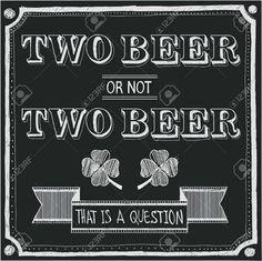 chalkboard art beer - Google Search