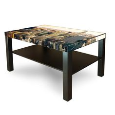 New Coffee Table Fancy Black Brown with motive: New York City