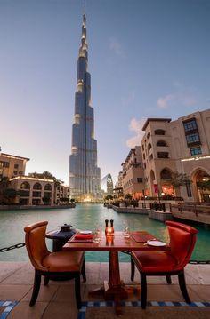 Dubai #dubai #uae scene from restaurant in Palace Hotel Downtown jhttp://dubaiuae.co/DubaiTravelHotels