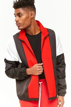 Colorblocked Track Jacket