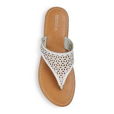 Women's Jaylyn Thong Sandals Merona - White 10