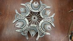 This horseshoe metal art is something else