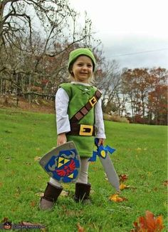 Link from The Legend of Zelda . | 22 Halloween Costumes For Kids Inspired By Nintendo
