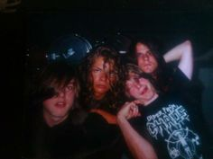 A very rare photo of Old Funeral. This photo belongs to Tore Bratseth. Photo contains Varg, Abbath, Padden and Tore (1990).