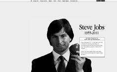 Apple Style Online Memorial for Steve Jobs