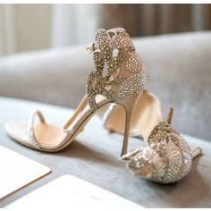 Sergio Rossi wedding shoes, strictly handmade.