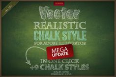 Nice Chalk realistic vector AI style CreativeWork247 - Fonts, Graphics, The...