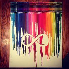infinity crayon art