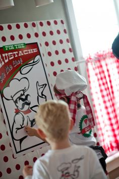pin the mustache on the chef