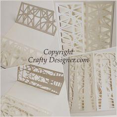 Stylish design laser cut invitations bespoke to Crafty Designer.com