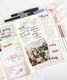 Creative bullet journal spread by @studyingmood. We love how amazing it looks!