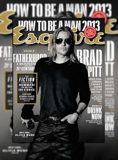 Brad Pitt Covers Esquires June/July 2013 Issue