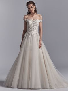 Safira is a timeless and romantic wedding gown from the Khloe collection by Sottero and Midgley, available in our Sale at Camellia Bridal. Luxury Wedding Dress, Perfect Wedding Dress, Designer Wedding Dresses, Wedding Dresses Photos, Bridal Dresses, Wedding Gowns, Lace Wedding, Maxi Dresses, Trendy Wedding