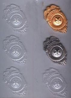 Police Badge Candy Molds cheftoyz http://www.amazon.com/dp/B0008DH8PO/ref=cm_sw_r_pi_dp_0yzTtb07TN28S6T4