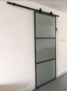 Bathroom Barn Door, Home Reno, French Doors, Bathroom Medicine Cabinet, Minimalism, Condo, Kitchen Appliances, The Originals, Storage