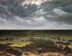 Caspar David Friedrich - Meeresküste bei Mondschein 1830