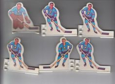 1970'S COLECO TABLE HOCKEY PLAYERS PITTSBURGH 6 PLAYER TEAM SET Hockey Cards, Sports Games, Hockey Players, Nhl, Pittsburgh, 1970s, Table, Sports, Mesas