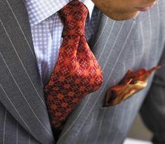 Med grey beaded pinstripe