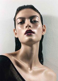 Artist Violette...balmy skin, burgundy lips