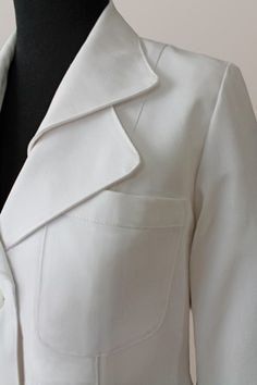 """A lab coat for the fashion-obsessed, the """"Iris"""" stands out in unique style."""
