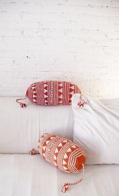 // crocheted pillows