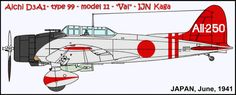 "This is AII-250 on first receipt to Kaga prior to application of command marks.  Hikotaicho Saburo Makino and PO1c Yukio Nagamine were the assigned crew at this moment.  INFO CREDIT: ""Shinjuwan no 101 Ki"" by H. Yoshimura, M. Asano and D. Aiken, Magazine REPURIKA 7/92."