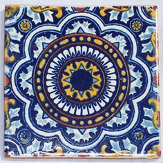 90  Mexican Hand Painted Talavera Tiles 4 X 4 by Casadaya on Etsy, $112.00